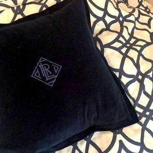 Ralph Lauren feather pillow and velvet sham🌍